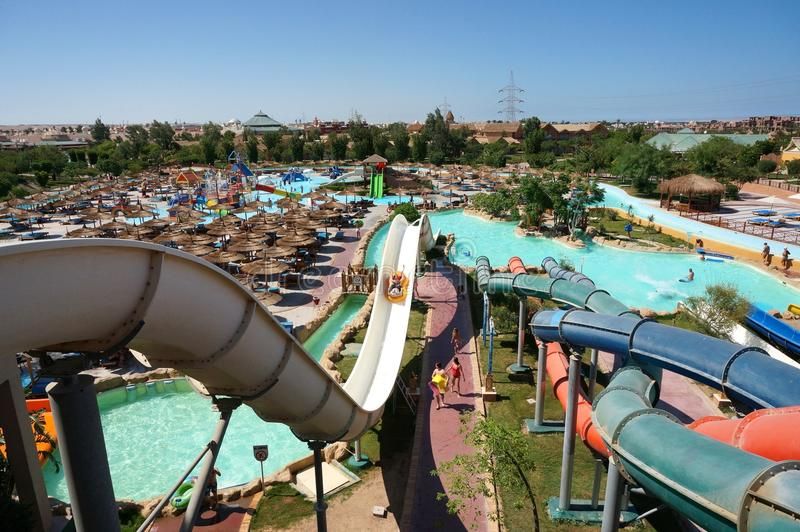 A typical Aqua Park royalty free stock image
