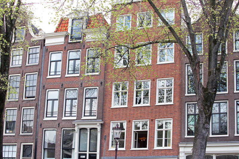 Typical architecture in Amsterdam, Netherlands royalty free stock images