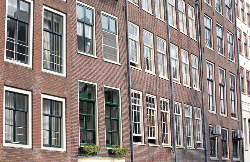 Typical architecture in Amsterdam, Netherlands stock image
