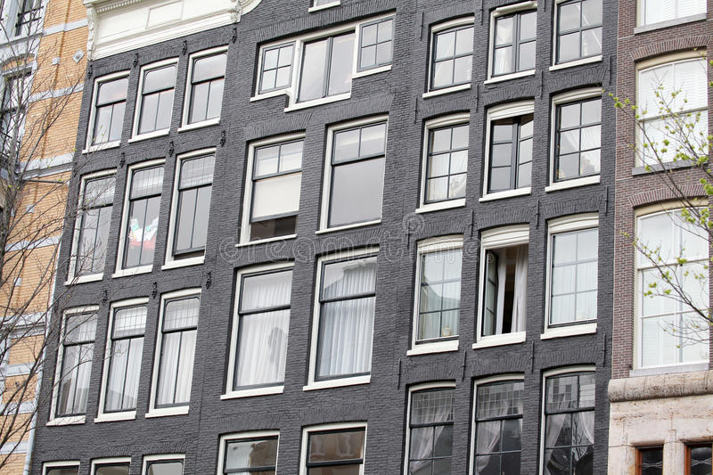 Typical architecture in Amsterdam, Netherlands stock images