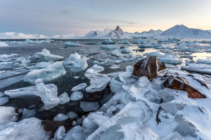 Typical Arctic ice landscape - Spitsbergen. Typical Arctic ice landscape - Svalbard stock images