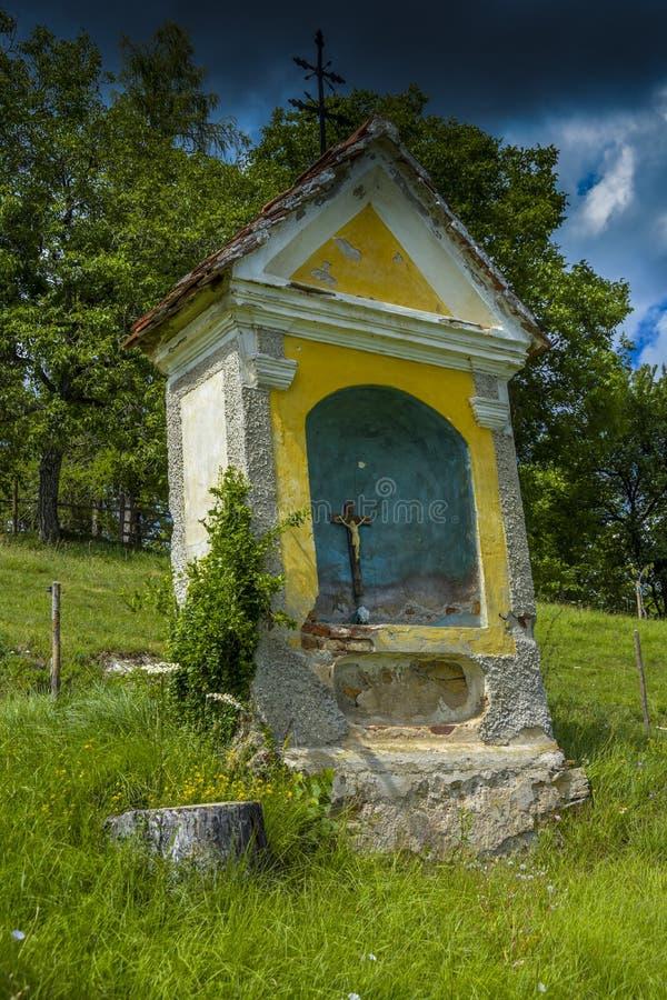 Typical Austrian way side shrine stock photos