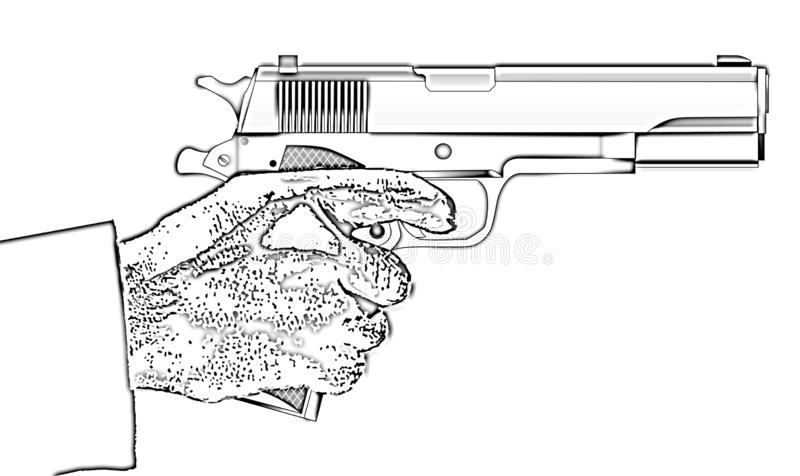A typical 45 automatic vector illustration