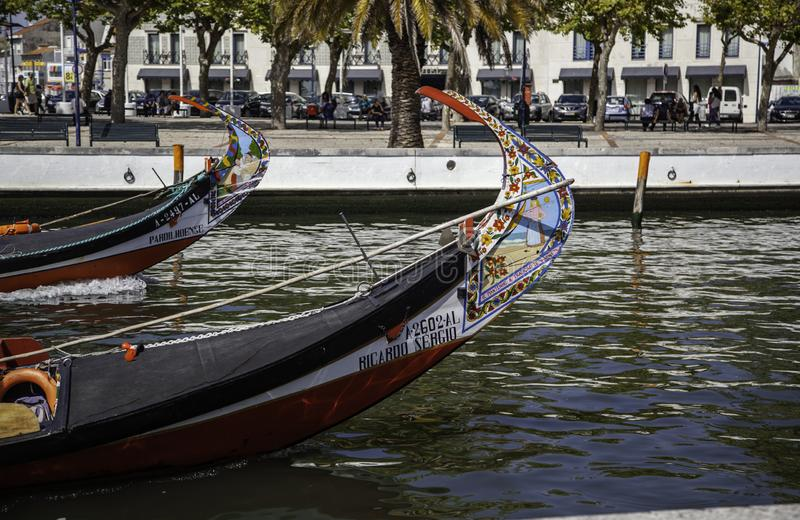 Typical Aveiro boats royalty free stock image