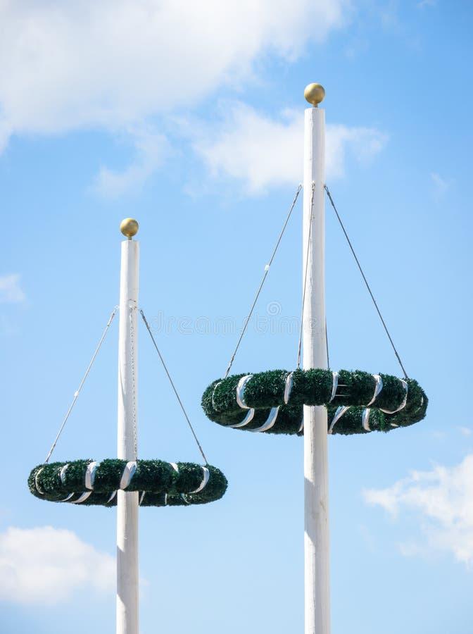 Maypoles Royalty Free Stock Photography