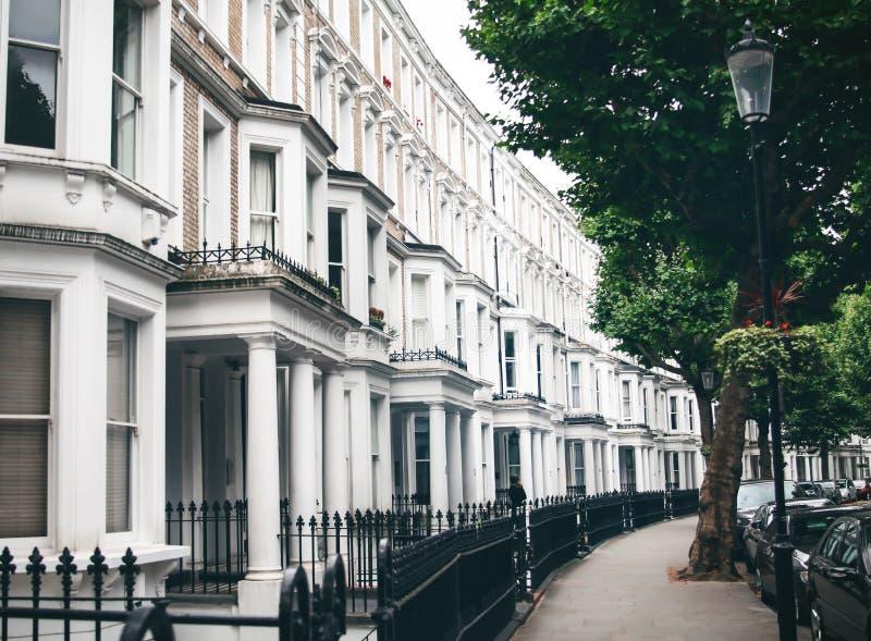 Typical British apartment building exterior stock photos