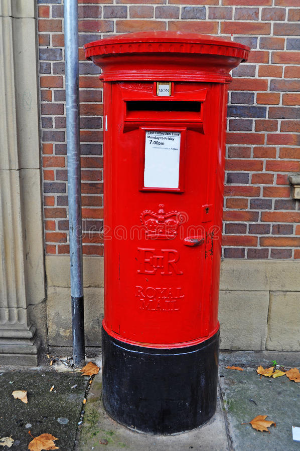 Typical British post box stock photography
