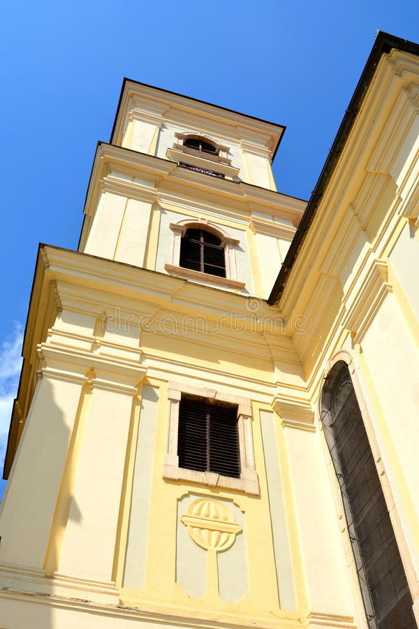 Typical building in Sibiu, European Capital of Culture for the year 2007 stock images