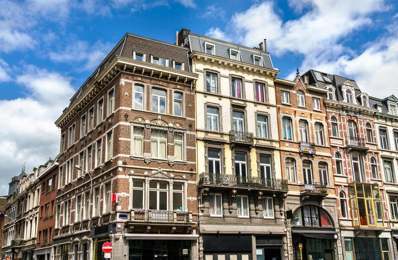 Typical buildings in the city centre of Liege, Belgium. Typical buildings in the city centre of Liege - Belgium stock photography