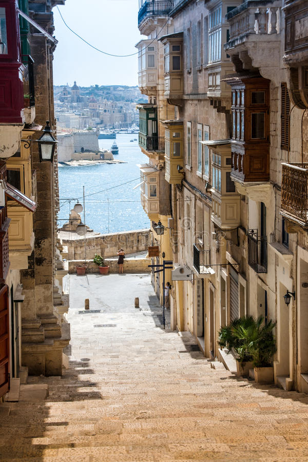 Typical buildings in malta royalty free stock images