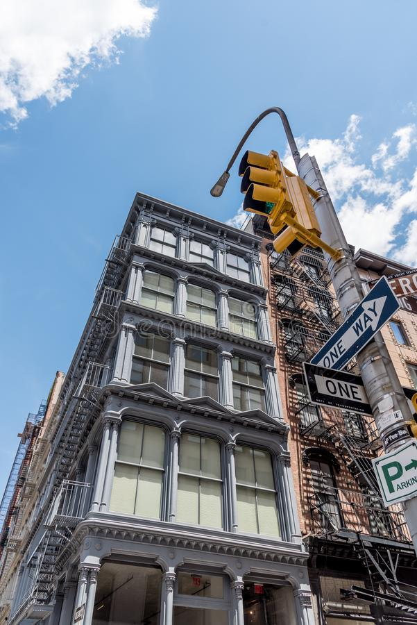Typical buildings in Soho in New York stock image