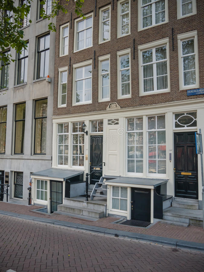 Basement Apartment Entrance. Download Typical Canal House On Herengracht In Amsterdam Editorial Stock  Image 39602659