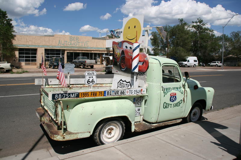 Typical car along Route 66 in Arizona, USA. stock images