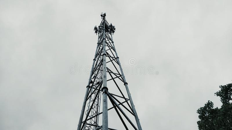 A typical cell phone tower of Indian Origin stock images