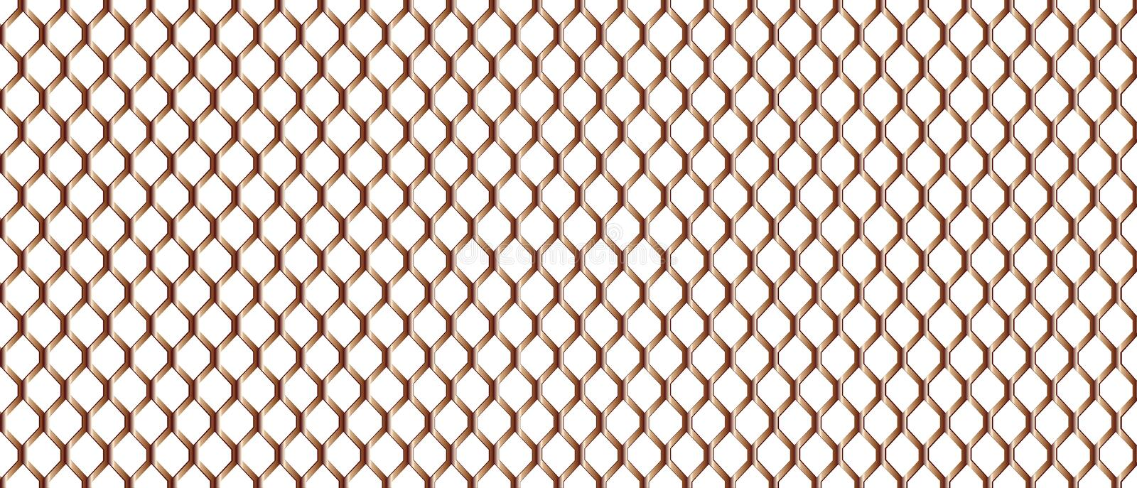 Chain Link Fence royalty free illustration