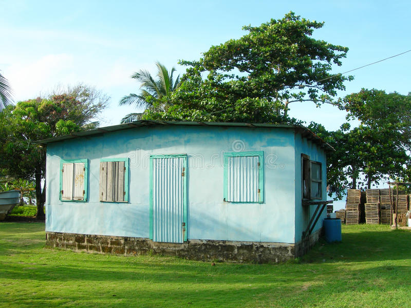 Typical clapboard house corn island nicaragua. House architecture typical clapboard wood rural corn island nicaragua royalty free stock photos