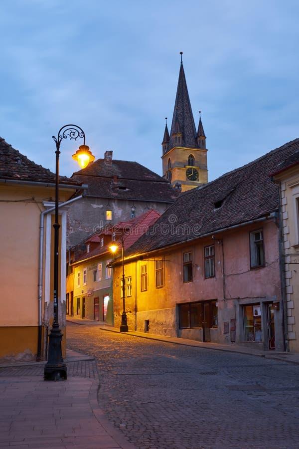 Steets of Sibiu stock photo