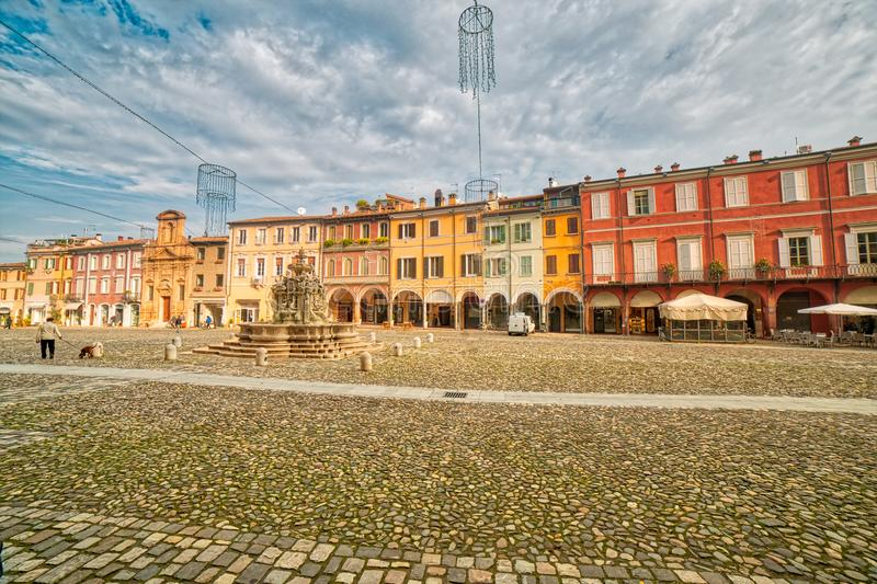 Main square of Cesena royalty free stock images