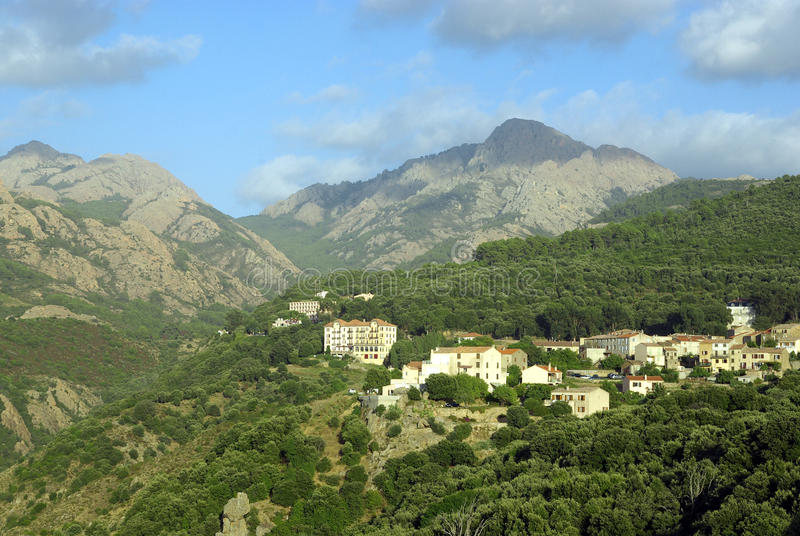 Download Typical Corsican village stock image. Image of hill, mountainous - 16692817