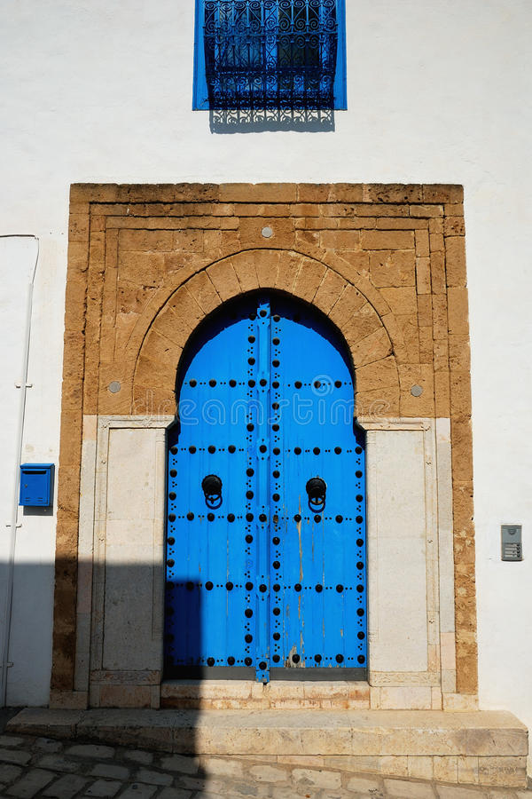 Typical Door In Sidi Bou Said Stock Images