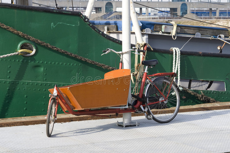 Typical Dutch carrier bicycle royalty free stock images