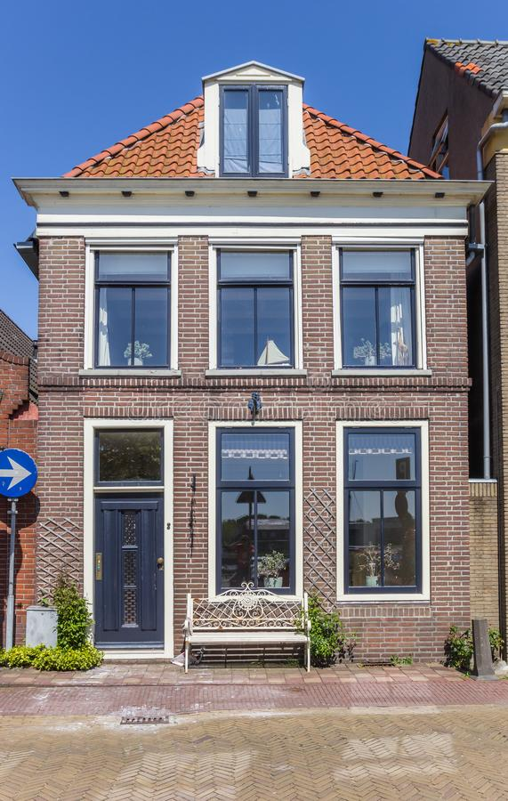 Typical dutch house in the center of Hasselt stock photos