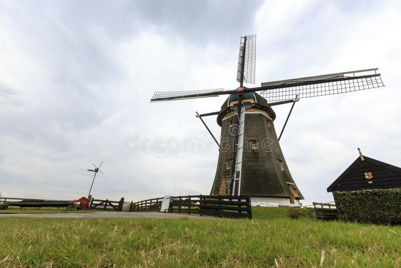 Dutch windmill, Leidschendam near Den Haag royalty free stock photos