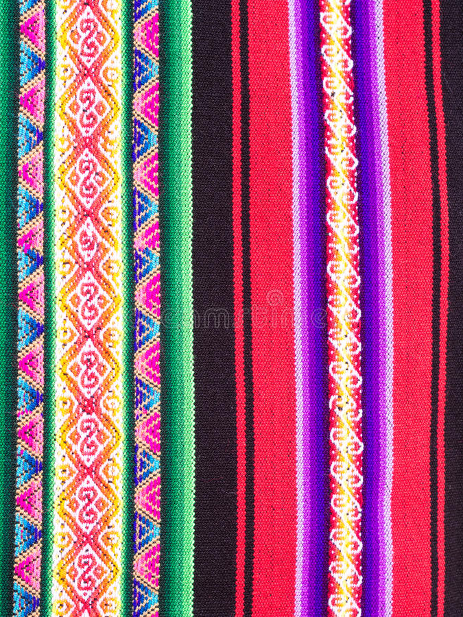 Typical Ethiopian hand-woven colorful fabric.  stock image
