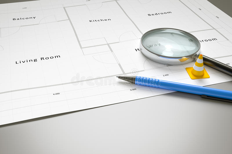 Typical floor plan stock images