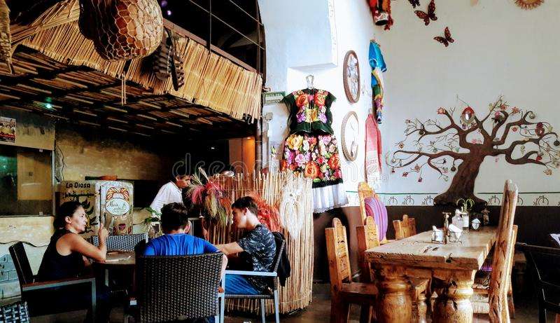 Typical food restaurant. From Oaxaca Mexico to the world stock image