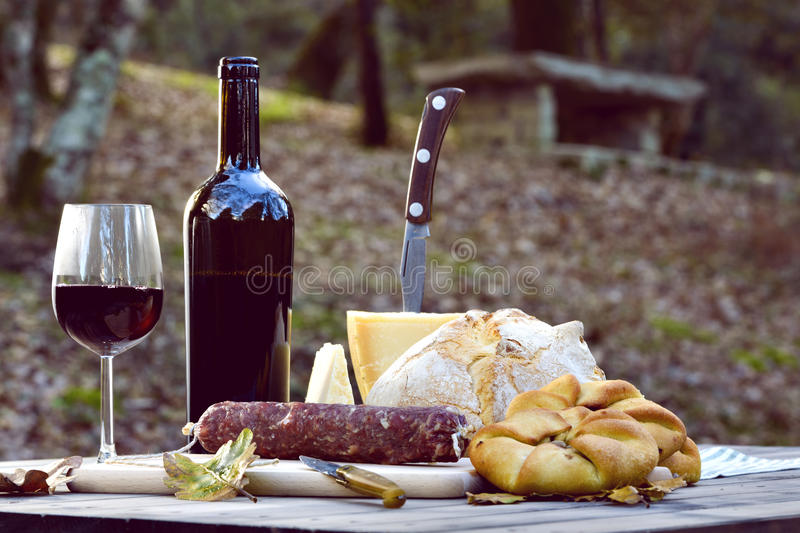 Typical foods of Sardinia royalty free stock photography