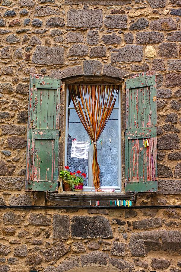 Typical French Window royalty free stock photos