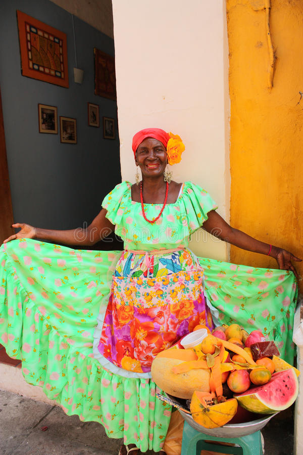 Download Typical Fruit Seller. Cartagena De Indias Editorial Stock Photo - Image of african, colombian: 13887353