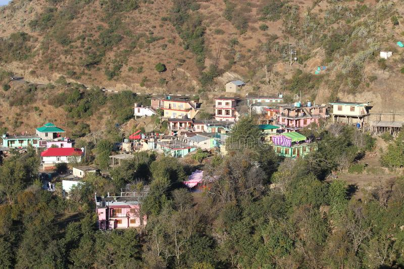 A typical garwali vellige of uttrakhand royalty free stock image