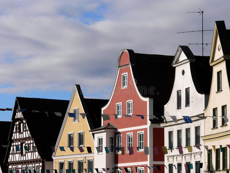 A typical german house royalty free stock photo