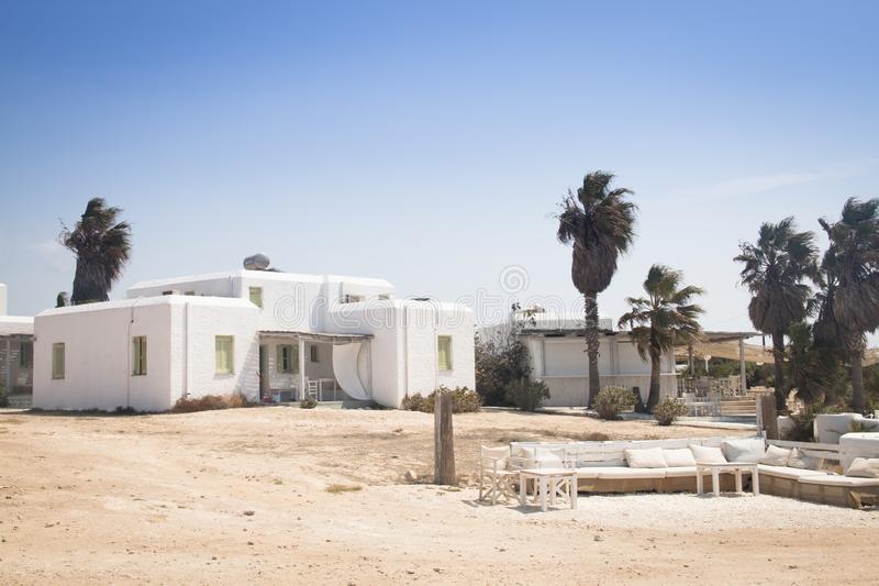 Typical guesthouse on Antiparos, Greece royalty free stock photography