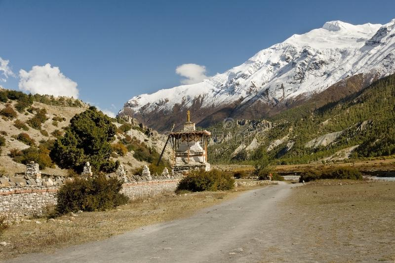 Typical Himalayan pilgrimage route royalty free stock images
