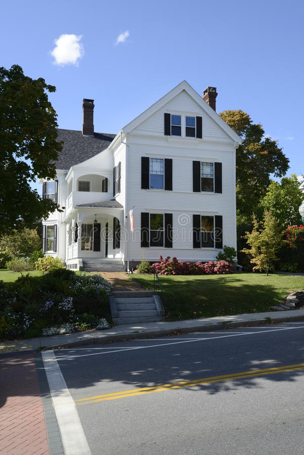 Typical home in Maine stock images
