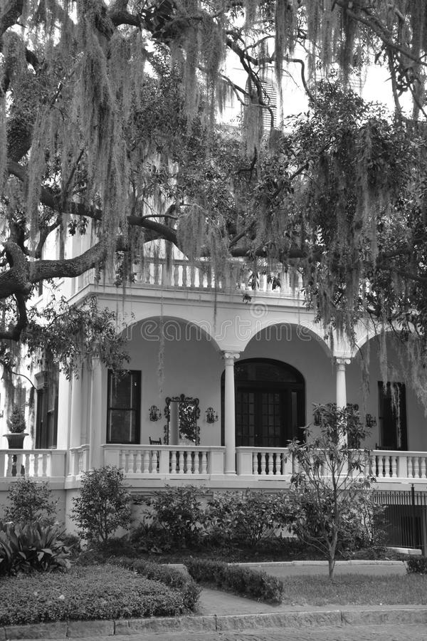 Typical house in downtown Savannah. royalty free stock image