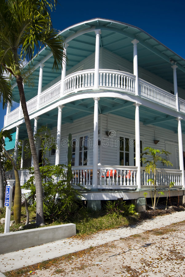 Typical house key west florida. Typical house architecture key west florida famous tourist destination royalty free stock photography