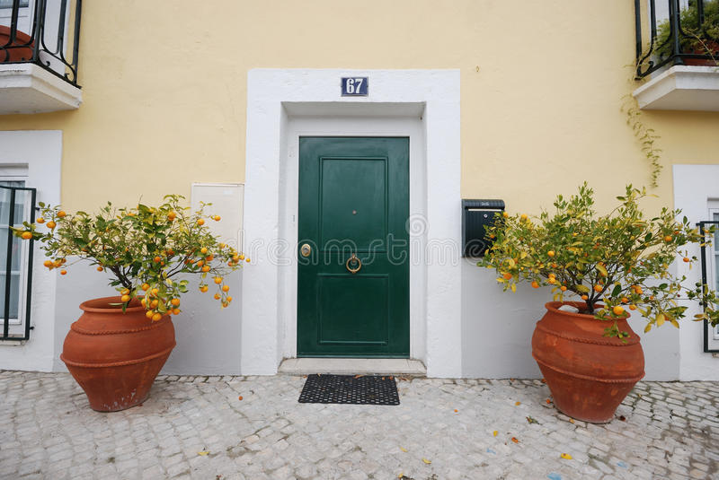 Typical house in lisbon stock images