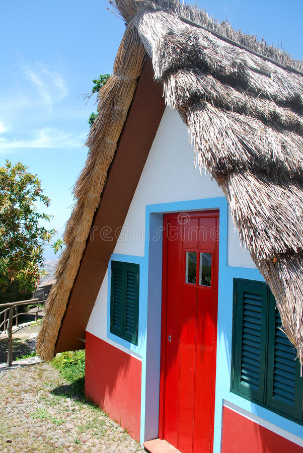 Typical house in Madeira royalty free stock photo