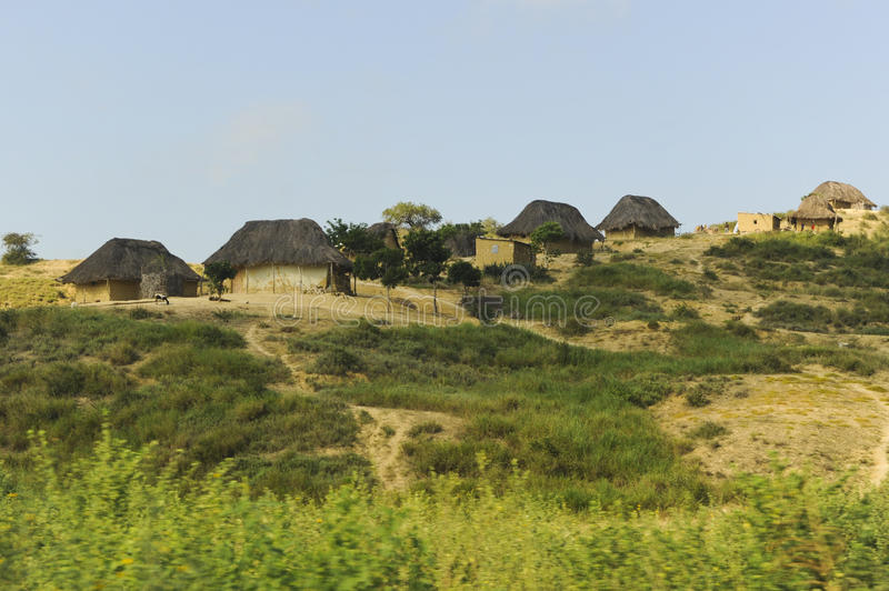 Typical Houses in Africa stock photography