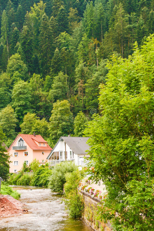 Download Typical Houses Of Black Forest Stock Photo - Image: 83718240