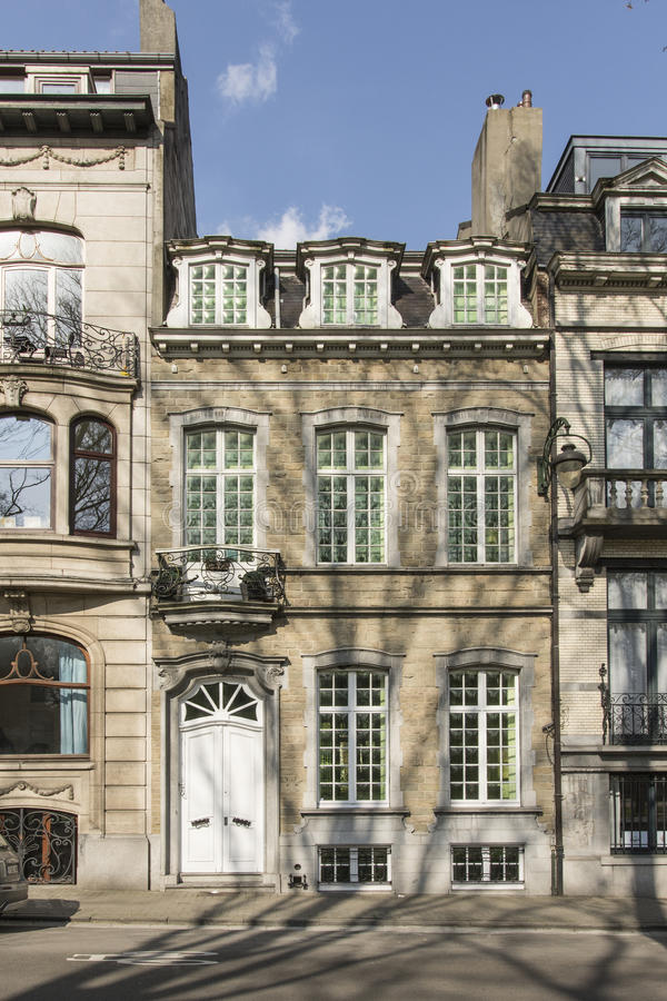Typical houses in Brussels royalty free stock photography