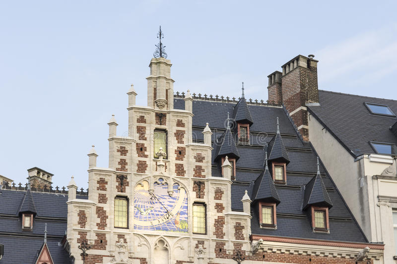 Typical houses in Brussels stock photography