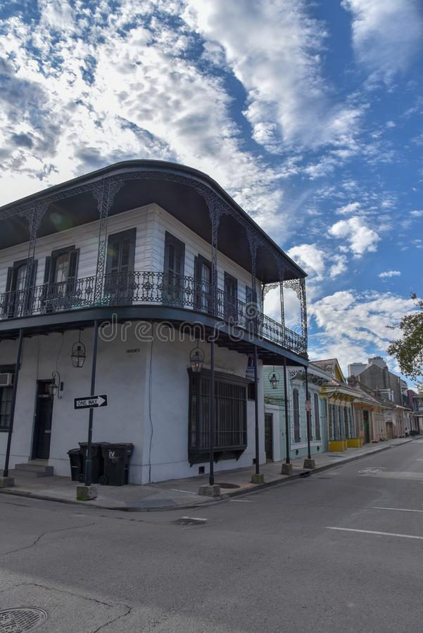 Typical houses in the French quarter of New Orleans (USA stock photo