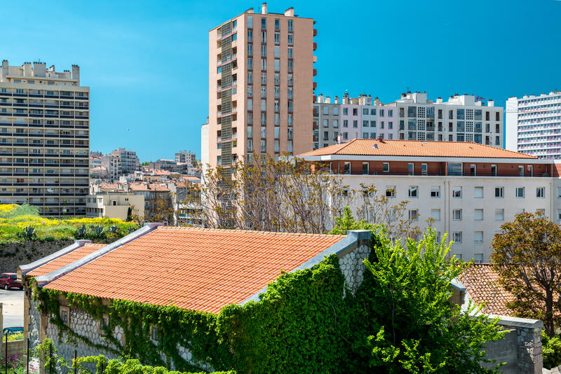 Download Typical Houses Of Marseille Stock Image - Image: 32994047