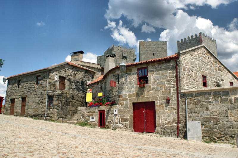 Typical houses of Montalegre royalty free stock image
