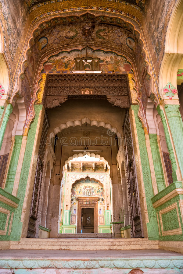 Typical indian architecture, India. royalty free stock photos